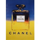 Original Vintage French Poster for Chanel 5 by Andy Warhol - Blue/Yellow Version 1980's