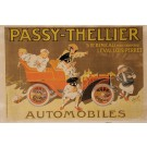"""Original Vintage French Poster for """"Passy-Thellier"""" Automobiles by L. Vaillant"""