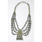Ethnic Vintage Natural Nephrite Jade Beads Necklace