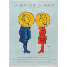"Original Vintage French Poster ""La Monnaie De Paris"" by Savignac ca. 1980"