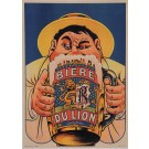 "Original Vintage French Alcohol Poster for ""Biere du Lion"" Beer by Oge ca. 1900"