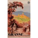 "Original Vintage French Travel Poster Advertising ""Grasse - Cote d'Azure"" 1970's"