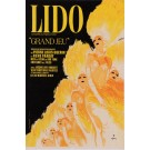 "Original Vintage French Poster for ""Lido"" Cabaret by Rene Gruau 1970's"