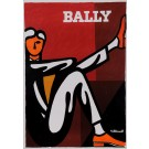 """Original Vintage French Poster Advertising """"Bally"""" Shoes by Villemot ca. 1960"""