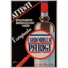 "Original Vintage Italian Alcohol Art Deco Poster for ""Camomilla Parigi"" Drink by Golia 1933"