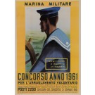 "Original Vintage Italian Propaganda Poster for ""Marina Militare"" Navy by Mancioli 1961"