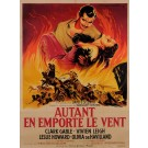 "Original French Movie Poster ""AUTANT EN EMPORTE LE VENT"" SOUBIE 1950"