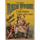 """Original Vintage French Children Poster """"Grand Bazar Vivienne"""" ca. 1900"""