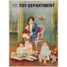 "Original Vintage American Children Poster ""Visit our Toy Department"" ca. 1900"