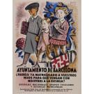 """Original Vintage Spanish Propaganda Poster for """"Ayuntamiento de Barcelona"""" by Joseph Obioh 1930"""