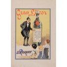 """Original Vintage French Alcohol Poster Advertising """"Gran Licor J. Roquer"""" 1920's"""