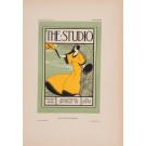 """Les Affiches Etrangeres """"The Studio"""" Stone Lithograph by Solon - 1896"""