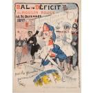 "Original Vintage  French Poster Advertising ""BAL du D'EFICIT"" by Grun 1897"