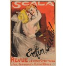 """Original Vintage French Poster Advertising """"Scala / Enfin, Seuls!"""" by Grun 1901"""