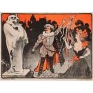Original Vintage French Poster Tournee CH. Baret by Grun ca.1900