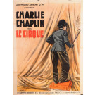 "Original Charlie Chaplin Movie Poster ""Le Cirque (The Circus)"" RARE!"