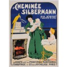 "Original Vintage French Poster ""La Cheminee Silbermann"" by Grun 1905"