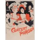 "Original Vintage French Poster ""Concert Parisienl"" by Grun 1897"