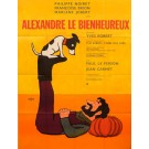 "Original Vintage French Movie Poster ""Alexandre le Bienheureux"" by Savignac 1967"