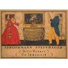 "Original Vintage German Alcohol Poster ""Strothmann Steinhager"" by Simon ca. 1900"