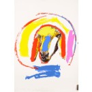 """Limited Edition Lithograph Numbered H-C 16/25 """"Sheep"""" by M. Kadishman 1982"""