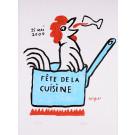 "Original Vintage French Poster for "" Fete Le Cuisine"" by Savignac"