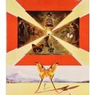 "Original Vintage Poster ""Roussillon"" by Salvador Dali 1969"