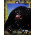 "Original Acrylic on Canvas "" The Monky"" by Ferjo The Brazilian Master"