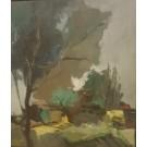 "Original Acrylic on Canvas Painting ""Landscape"" by Tarkay 1988 RARE!!!"