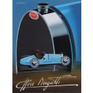 "Original Vintage French Lithograph Poster for ""Bugatti"" by Fix-masseau"