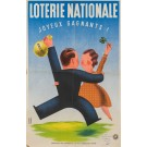 "Original French Vintage Poster ""Loterie Nationale""  -  JOYEUX GAGNANTS by Derouet Lesacq"