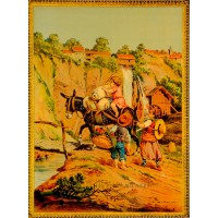 """Children Lithograph Poster Chromo """"The Little Millers"""""""