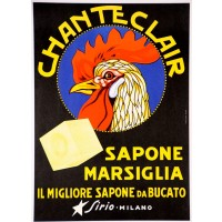 "Original Italian Vintage Advertising Poster ""Chanteclair - Sirio"" ca. 1960"