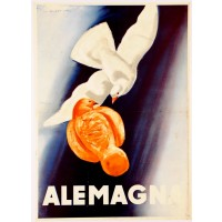"Italian Poster ""Alemagna"" Dudovich (Second printing)"