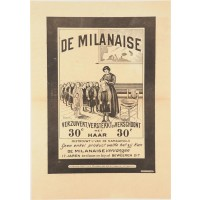 Original Vintage French Poster advertising La Milanaise by Cappiello ca. 1910