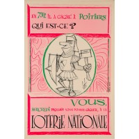 Original Vintage Loterie Nationale Poster by Scob ca. 1960