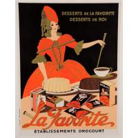 Original Vintage French Advertising Poster La Favorite