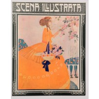 "Original Cover Print Italian Magazine ""Scena Illustrata Firenze"" Lorioux"