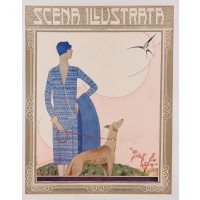 "Original Vintage Art Nouveau Print of ""Scena Illustrata"" by Signes 1928"