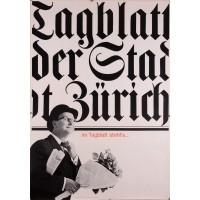 Original Vintage Swiss Poster for Tagblatt der Stadt Zürich News Paper