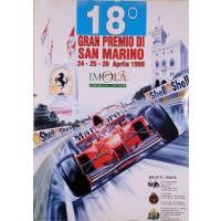 Original Vintage French Poster for San Marino 18 Racing