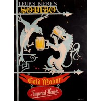 """Original Vintage French Poster for """"Leurs Bieres Sodibo"""" Beer by LeMaire 1930's"""