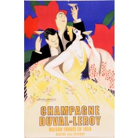 Original  French Lithograph after Champagne Duval Leroy poster