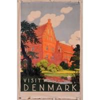 """Original Vintage Poster """"Visit Denmark"""""""