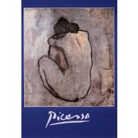 A poster by Picasso Of a Nude Lady