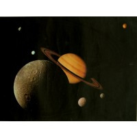 Original Poster for Saturn with Six Moons