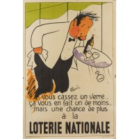 REPRINT Poster Loterie National Poster